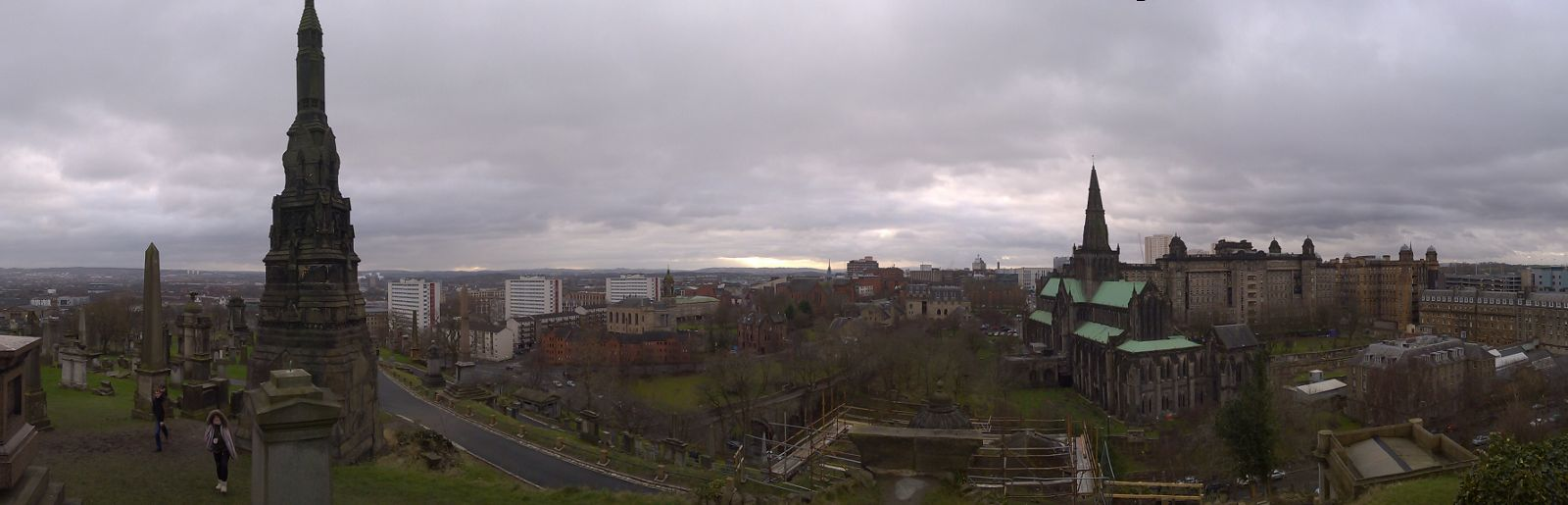 Panorama of Glasgow from the Necropolis