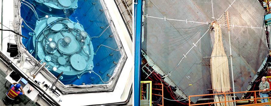 Photographs of the Daya Bay and MINOS neutrino experiments