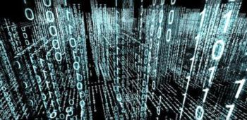 A matrix of binary code