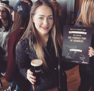 Guinness Storehouse: I poured my own pint!