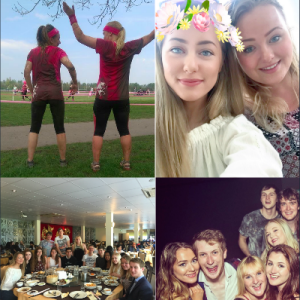 The Mud Run, post-exams meal and night out!