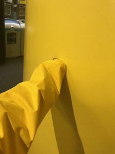 Alan Turing building, yellow walls