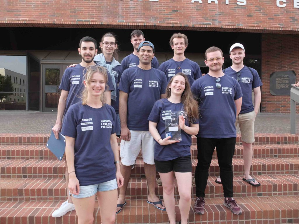 CanSat team with prize