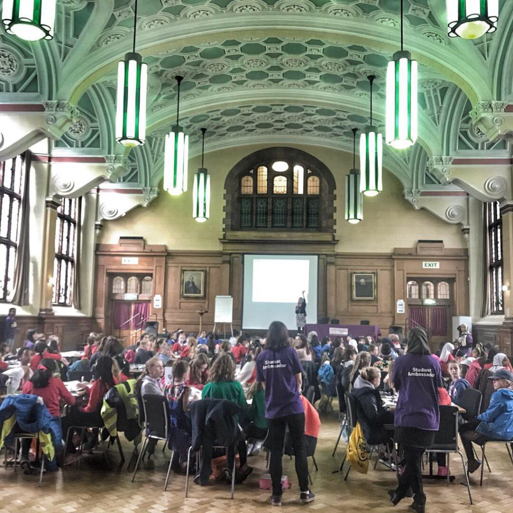 Girls Into STEM event Great Hall at Sackville Street Building