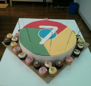Chrome's seventh birthday cake was by far the best birthday cake I've ever seen (and eaten)!