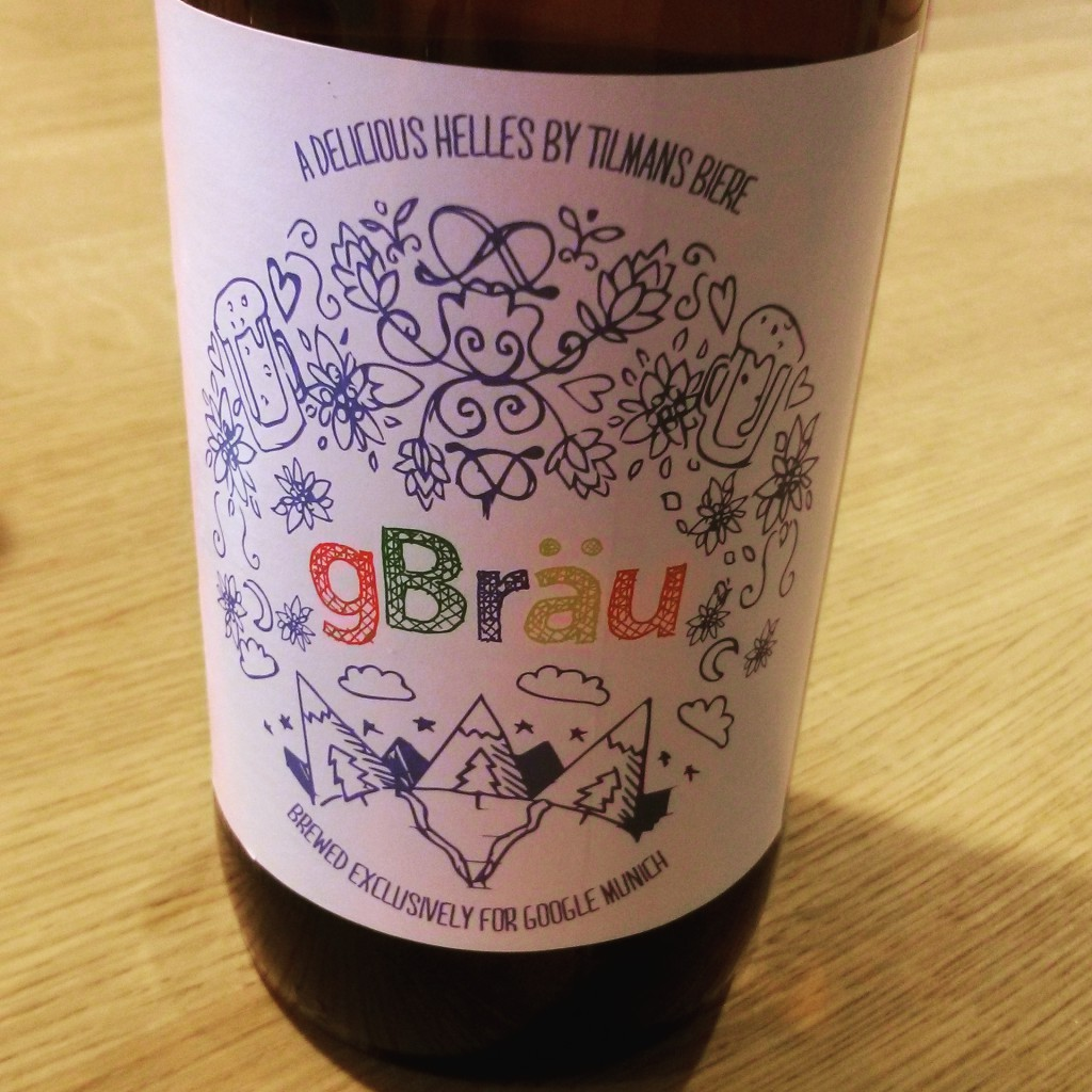 gBrau; Google's exclusively brewed beer.