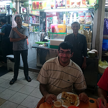 Another image from Adil's trip to Singapore, this time at the Tekka Centre near Little India