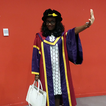 Gbemi at graduation!
