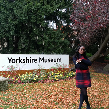 On one of her many museum trips!
