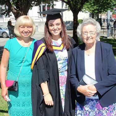 A lovely family photo from Emily's graduation