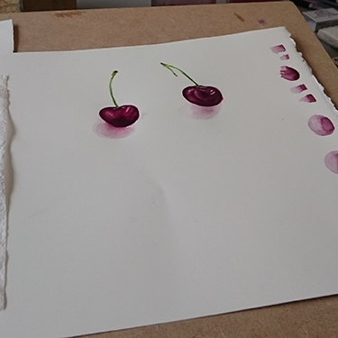 A water colour from Rosa's recent class