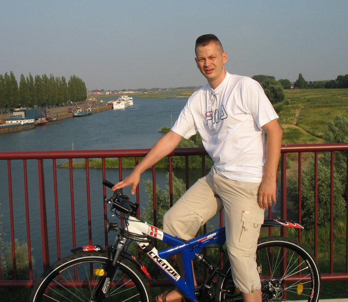 Photo X - Biking on a bridge too far, on the Dutch part of the Rhine river (Arnhem)