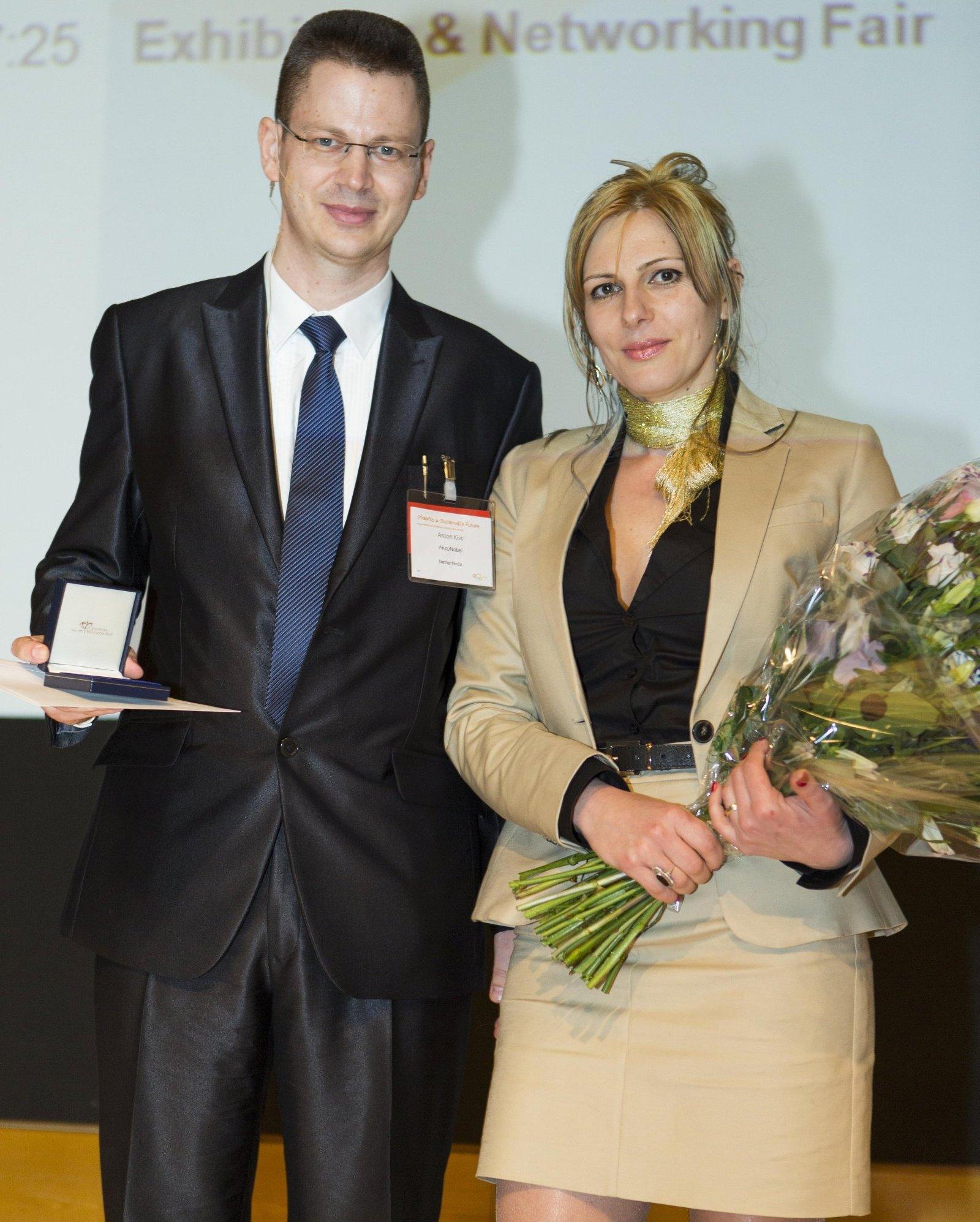 Photo X - Receiving a prestigious Dutch award (Hoogewerff Jongerenprijs) in The Hague