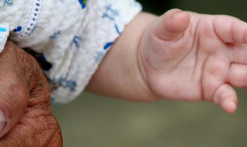Baby's left hand
