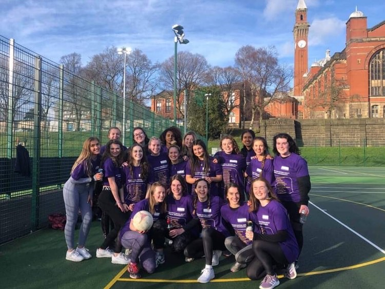 Amy with the CEAS netball team at the Frank Morton tournament