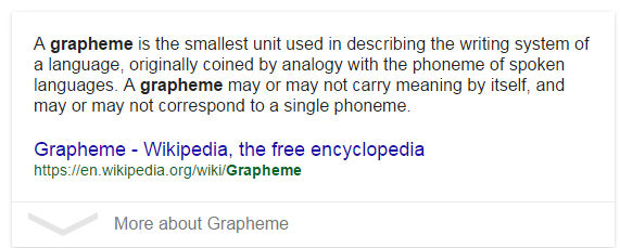 The curse of auto-correct - what is 'grapheme'? - Graphene