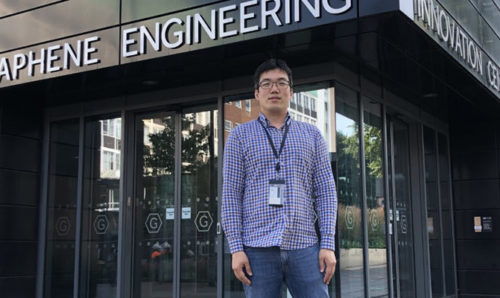 Jae Jong Byun - CEO and Founder of Nanoplexus, pictured outside the Graphene Engineering Innovation Centre at The University of Manchester