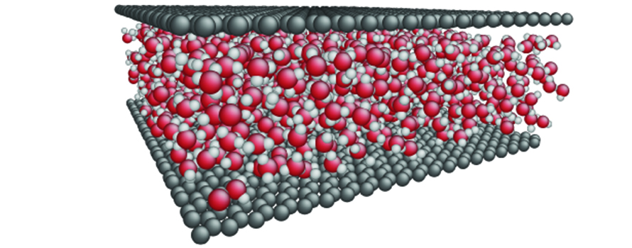 A molecular dynamics simulation of water between two graphene layers