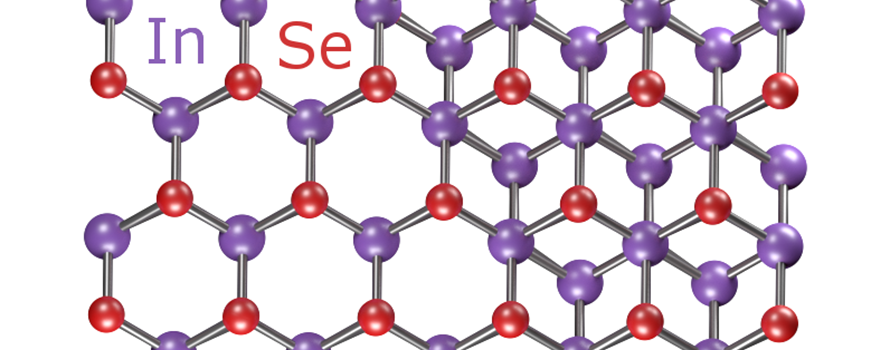 The honeycomb structure of single and bi-layers of indium selenide