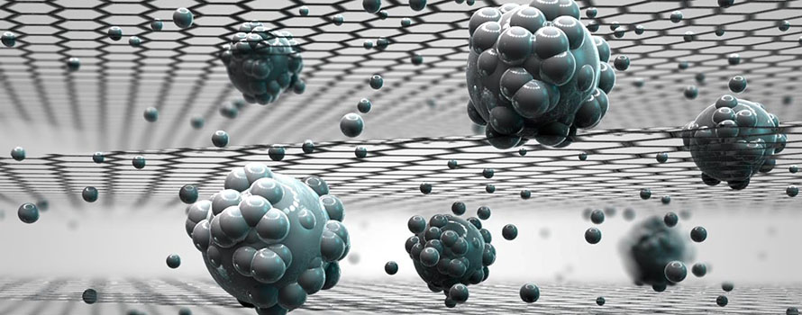 Computer generated image of a graphene sieve