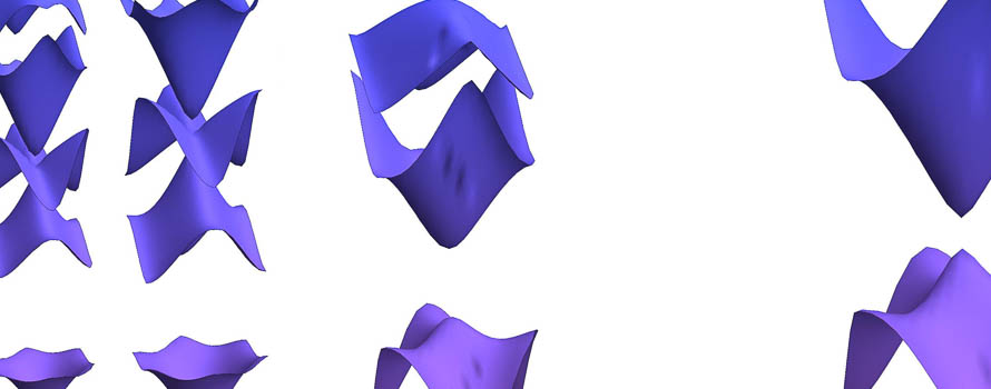 Purple objects representing High-temperature quantum oscillations caused by recurring Bloch states in graphene superlattices