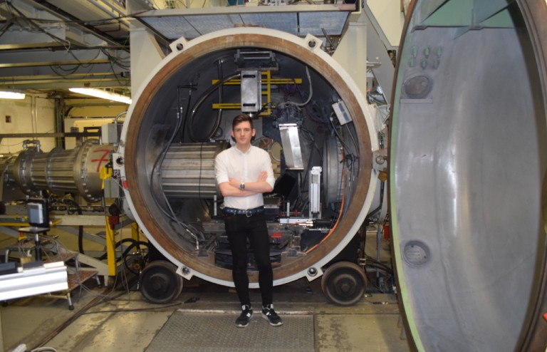 Life as PhD: Tom pictured at the German Aerospace Center (DLR).