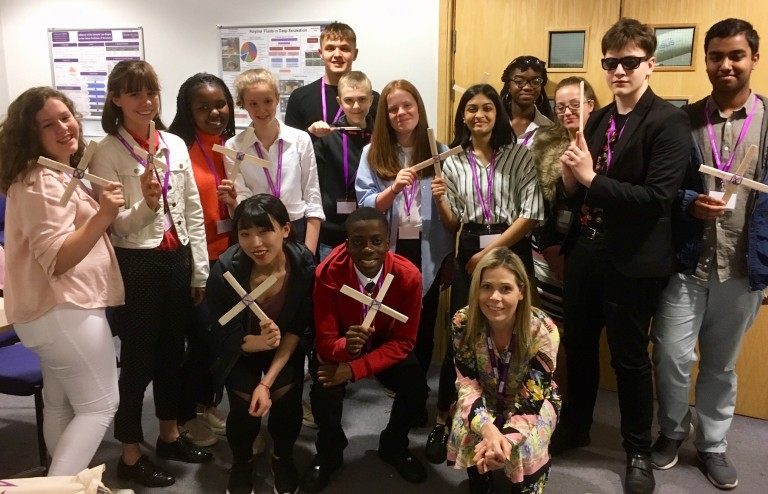 Work experience - Year 10 pupils show off their boomerangs