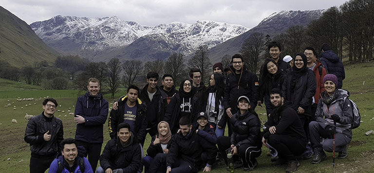 Civil engineering students on a field trip to Patterdale, Cumbria