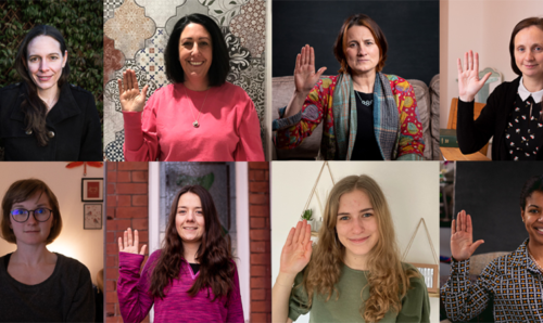 Collage of staff and students who have shared their story as part of International Women's Day