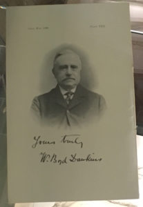 A card featuring Dawkins' portrait and signature