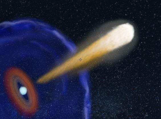 Jet of energy from neutron star