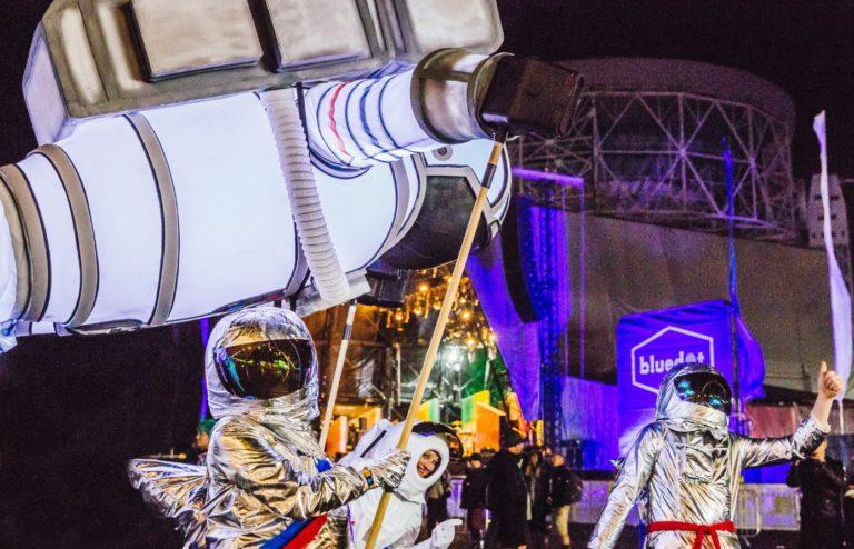 Nighttime space parade