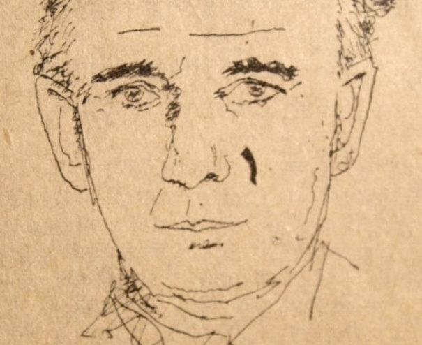 A drawing of Bernard Lovell