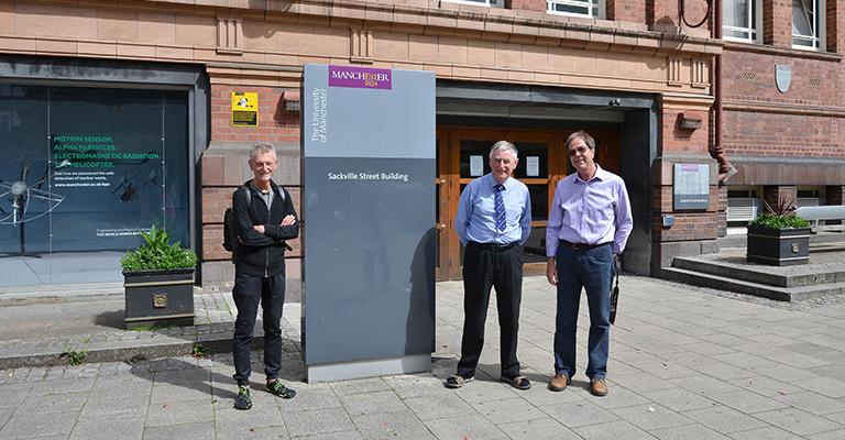 The three men outside the Sackville Street Building