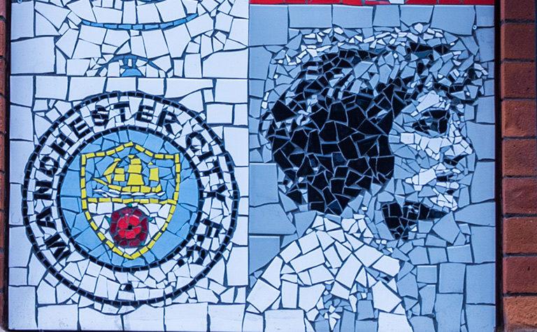 Manchester football mosaic
