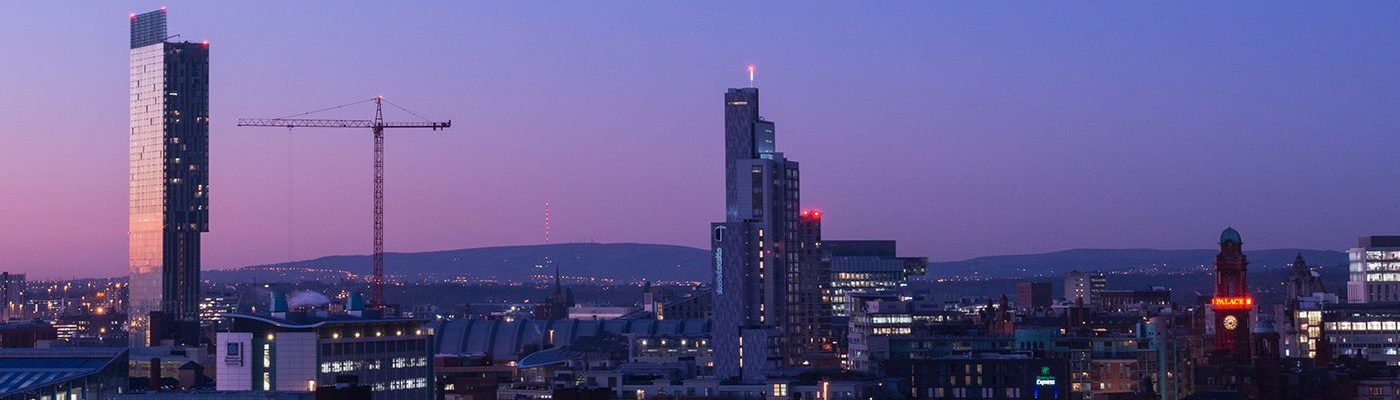Manchester at twilight