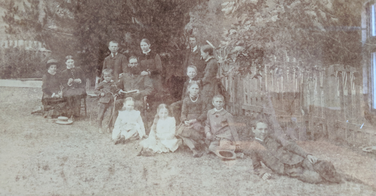 The Rutherford family in 1886