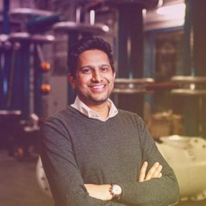 Man in high voltage lab