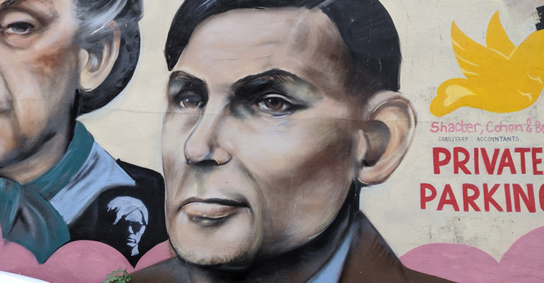 Alan Turing mural in Manchester