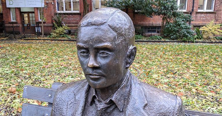 Alan Turing statue in Manchester's Sackville Gardens