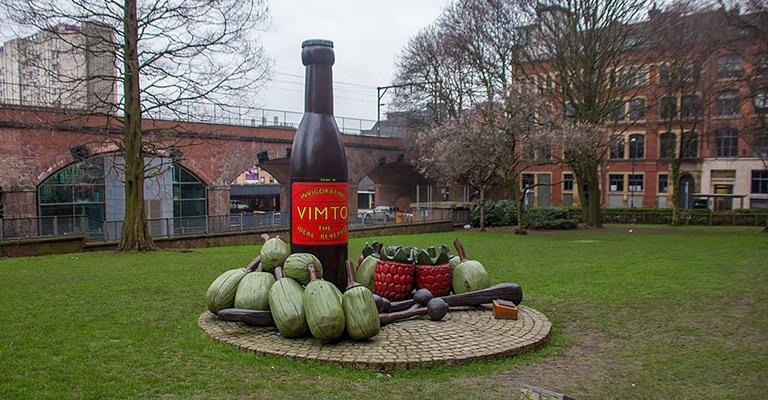Vimto bottle statue