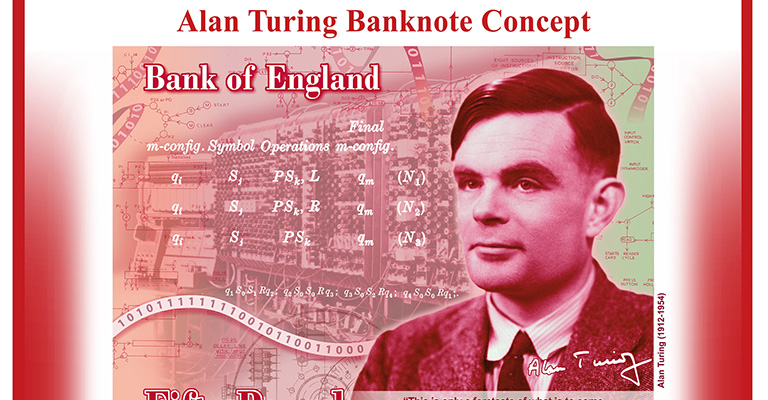 Alan Turing £50 note concept