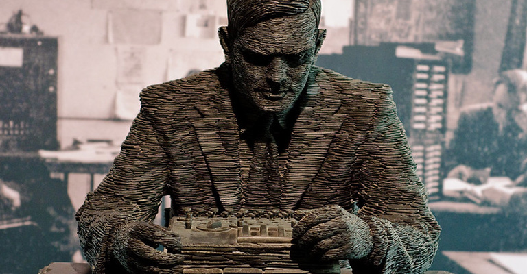 Turing statue at Bletchley Park