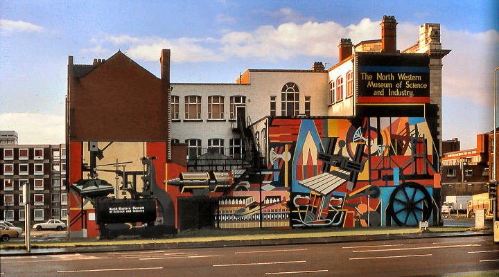 Mural on the side of Oddfellows Hall when used as a museum