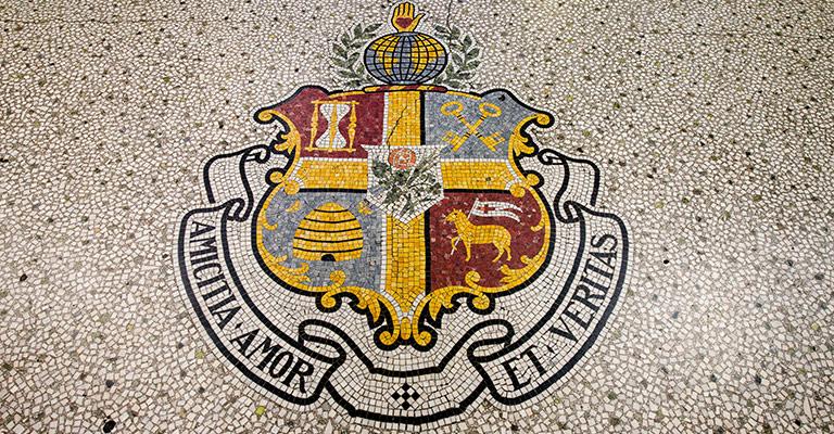 Oddfellows Society mosaic crest