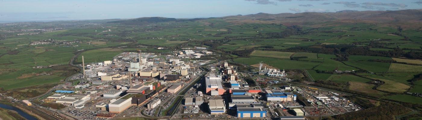 Sellafield nuclear facility - bird's eye view