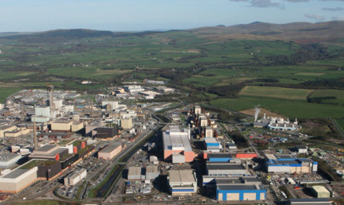 Sellafield nuclear facility - bird's eye view