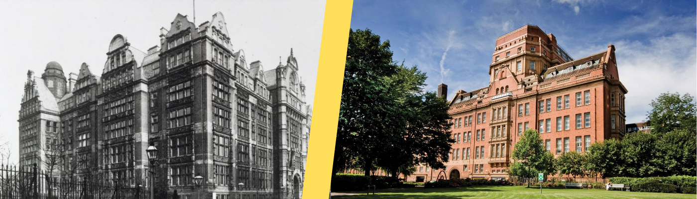 Sackville Street Building in 1902 and 2020