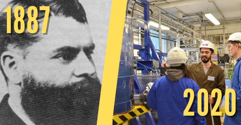 Chemical engineering in 1887 and 2020