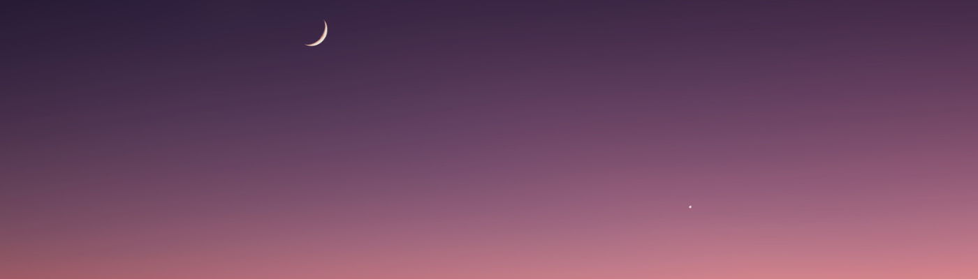 Venus and the moon at Twilight